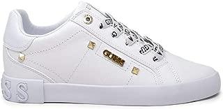 Guess Luxury Fashion Womens FL5PUXLEA12WHITE White Sneakers | Fall Winter 19
