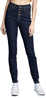 Judy Blue Old School! Button Front High Rise Skinny Denim