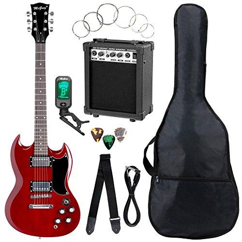 Set completo de guitarra eléctrica McGrey Rockit Doble Cut