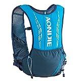 TRIWONDER Mochila de Hidratación 5L Tactica Chaleco Trail Running Ligero para Ciclismo Correr Marathoner Senderismo Hombre Mujer al Aire Libre (Azul - Solo Mochila)