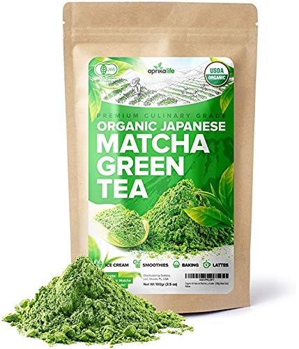 Organic Japanese Matcha Green Tea Powder – USDA & JAS Organic - Authentic Japanese Origin - Premium Culinary Grade - [100g Value Size]