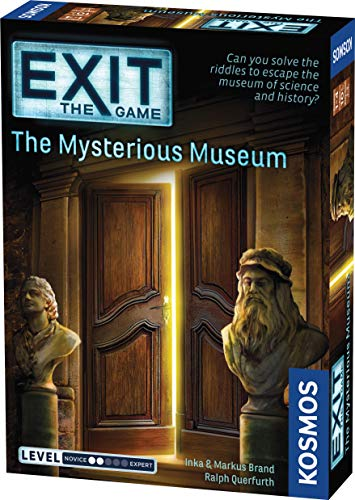 Exit: The Mysterious Museum   Exit: The Game - A Kosmos Game   Family-Friendly, Card-Based at-Home Escape Room Experience for 1 to 4 Players, Ages 10+