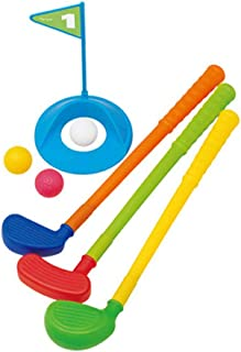 7 PCS Children Golf Club Set Outdoor Game Putting Golf Sport Early Development Educational Toy for Children Over 3 Years Old