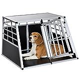 Jaula De Transporte para Perros De Aluminio con Tabique Hermetico Extraible...