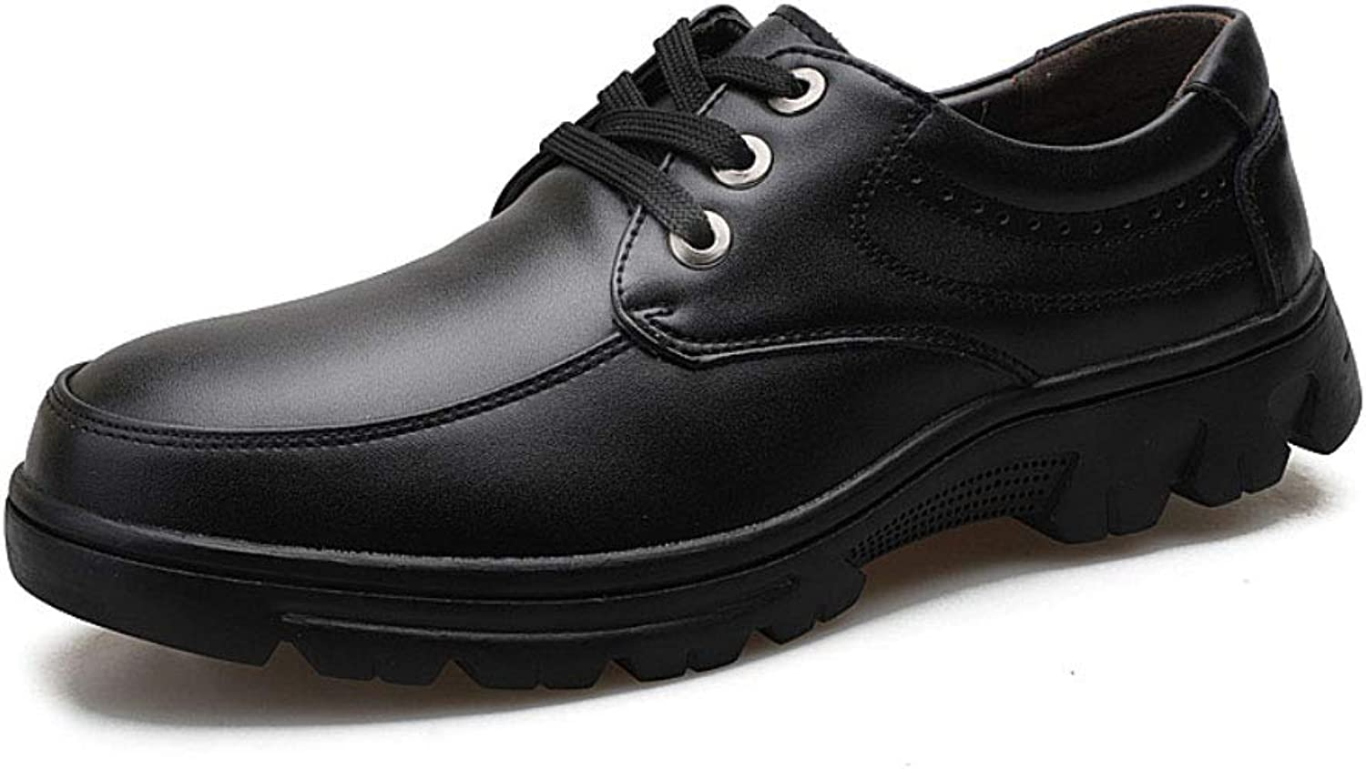 Leather shoes, Business Leather Casual Men's shoes, Handmade, Large Size shoes, lace-up shoes, Thick Soles