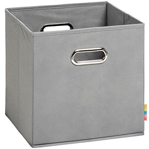 (H&S) Aufbewahrungsbox MIA - Faltbox - Korb - 28x28x28 cm - (Grau)