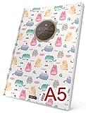 """TULPE Punktraster Notizbuch: Ca. A5 """"C115 Lustige Katzen' (Vintage Softcover, Register, Punktpapier - Bullet Journal, Kalligraphie Übungsheft, Skizzenbuch, Gepunktete Seiten, Dotted Grid Journal)"""