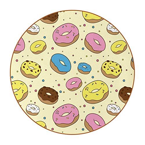6 posavasos divertidos para bebidas, varios estilos, adecuado para vasos de cerveza, vasos de café, tazas diarias, dulces donuts amarillo rosa choclate