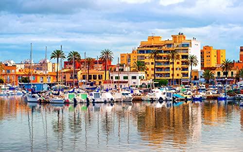 1000 Piezas De Rompecabezas para Adultos - Rompecabezas Difíciles - Palma De Mallorca - 1000 Piezas De Rompecabezas para Adultos Y Niños De 12 Años En Adelante