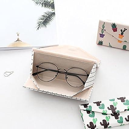 Estilo Simple JUNGEN Funda Plegable para Gafas Estuche Tri/ángulo para Gafas de Sol con Cierre Magn/ético
