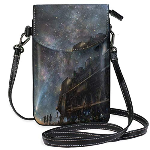 XCNGG Small Crossbody Coin Purse Train Starry Phonepurse for Women Bags Leather Multicolor Smartphone Bags Purse With Removable Strap