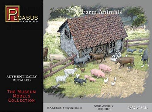 Pegasus PG7052 – Histoire américaine. Animaux de la Ferme 1: 72 Figures