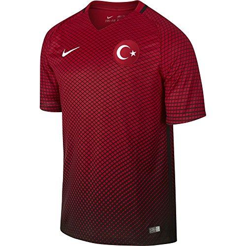Nike Tur M SS H/A Stadium JSY–Trikot Offiziellen XL Schwarz/Rot/Weiß