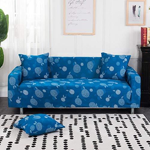 Funda Sofas 2 y 3 Plazas Cielo Azul Fundas para Sofa ,Cubre Sofa Ajustables,Fundas Sofa Elasticas,Funda de Sofa Chaise Longue,Protector Cubierta para Sofá