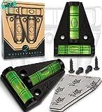 Robfox T-Wasserwaage - 2x magnetische Kreuzwasserwaage - Wasserwaagen Set inkl. Befestigung -...