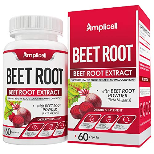 Beet Root Powder Capsules – Best Nitric Oxide Booster Supplement with Organic Beet Powder Extracts from Super Beets Juice – Supports Healthy Blood Sugar & Blood Pressure – 60 Veg capsules