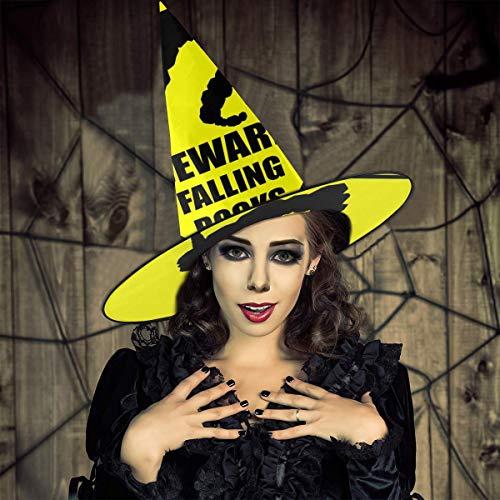 NUJIFGYTCRD - Señal de Advertencia de Monstruo del Bolsillo, con Texto en inglés Beware Falling Rocks Onix Witch Hat Halloween Unisex Costume For Holiday Halloween Christmas Carnivals Party