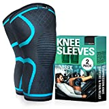 Knee Compression Sleeves(Pair) for Men and Women - Knee Support