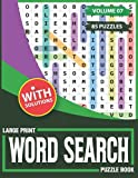 Large Print Word Search Puzzle Book: Adults Puzzles Games-85 Large Print Entertaining Fun Puzzles!