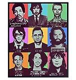 Prince, David Bowie, Elvis, Johnny Cash, Jimi Hendrix, Mick Jagger, Frank Sinatra, Jim Morrison, Janice Joplin - Musician Mugshot Photo Wall Art - Unique Pop Art Home Decor, Gift -1-8x10 Poster Print