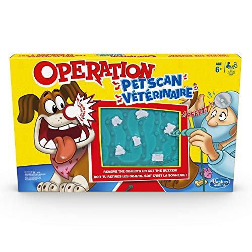 Operation Pet Scan Board Game for 2 or More Players, Kids Ages 6 and Up, with Silly Sounds, Remove The...