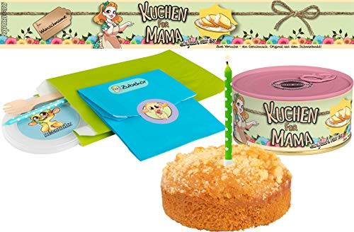 Kuchen für Mama   Kuchen in der Dose   Personalisiert mit Wunsch Namen und Geschmack   Geschenk   Geschenkidee (Zitronen-Streusel, Rosa)