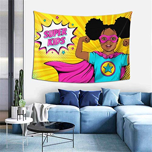Tapiz de Pared Wow Face Lindo Tapiz afroamericano sorprendido Colgante de Pared Decoración de habitación vanguardista Decoración de Arte de Pared para Dormitorio Sala de Estar Dormitorio,