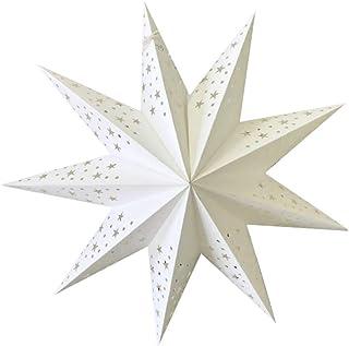 BESPORTBLE Pantalla de lámpara con forma de estrella, 3 dimensiones, lámpara de papel para colgar en el techo, 2 unidades