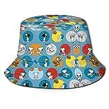 Sombrero de Pescador Sn-oopy Verano Protección UV Sombreros de Cubo de Viaje Gorra de Sol Plegable de Playa para Hombres Mujeres-71