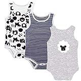 Body Unisex Bebé Pack de 3, Body Sin Mangas Monos de algodón 3-6 Meses