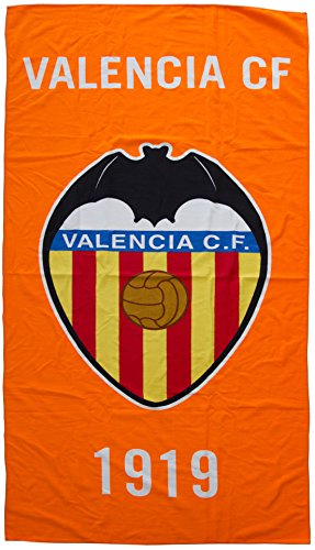 Valencia CF Toavcf Toalla, Blanco/Naranja, 150 x 75 cm