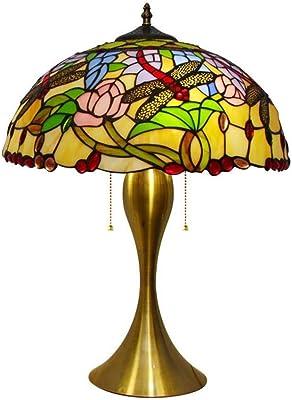 Estilo de Tiffany Lámpara de mesa Vintage Al lado de las lámparas ...