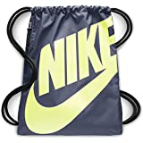 Nike Heritage Gymsack, Drawstring Backpack and Gym Bag with cinch sack closure and straps for comfort, Monsoon Blue/Monsoon Blue/Lumi