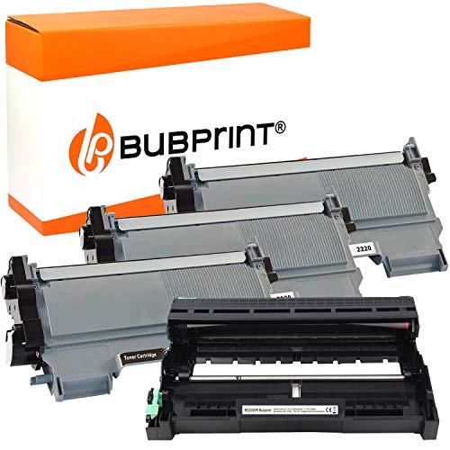 Bubprint Kompatibel Toner und Trommel als Ersatz für Brother TN-2220 DR-2200 für DCP-7055 DCP-7055W DCP-7065DN HL-2130 HL-2135W HL-2240 HL-2240D HL-2250DN MFC-7360 MFC-7360N MFC-7460DN 3er-Pack