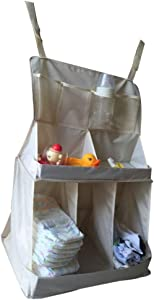 Rekkles Baby Bed Hanging Organizer Bag Waterproof Baby Diapers Clothes Feeding Bottle Toys Accessories Organizer Bag