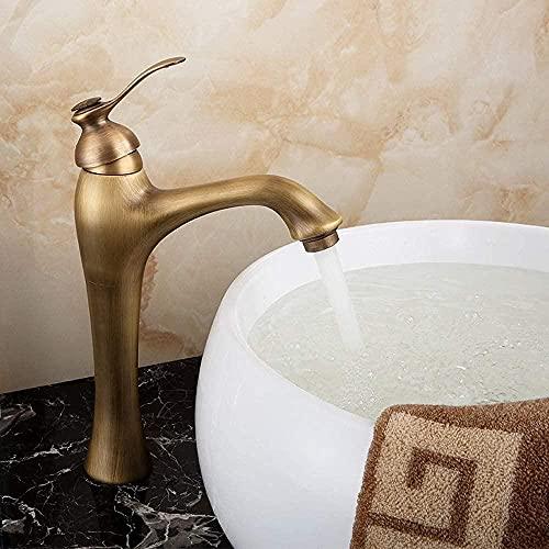 Grifos de baño Grifos Latón antiguo Creatividad continental Grifo de grifo clásico Lavabo de baño frío y caliente Lavabo sobre encimera Lavabo Grifo de agua