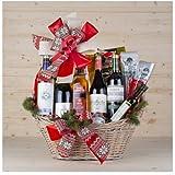 Cesta de Navidad   Presentado en cesta con decoración Navideña
