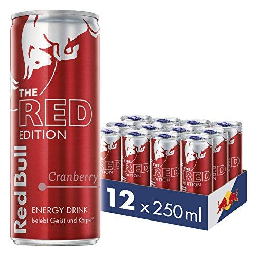 Red Bull Energy Drink Cranberry Dosen Getränke Red Edition 12er Palette, EINWEG (12 x 250 ml)