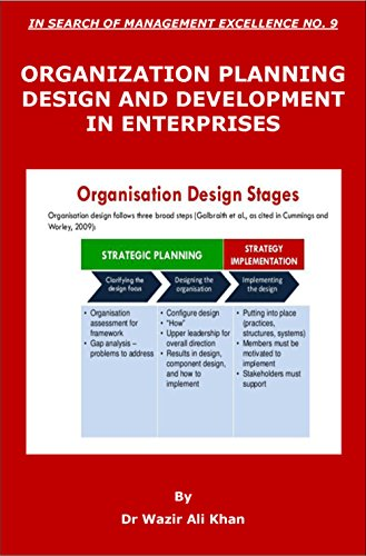 Amazon Com Fundamentals Of Organization Planning Design And Development In Search Of Management Excellence Book 9 Ebook Khan Dr Wazir Kindle Store