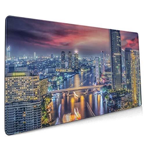 Thailand Bangkok Muis Pad Niet Slip Rubber Groot Gaming Toetsenbord Mat 15.8x35.5 In