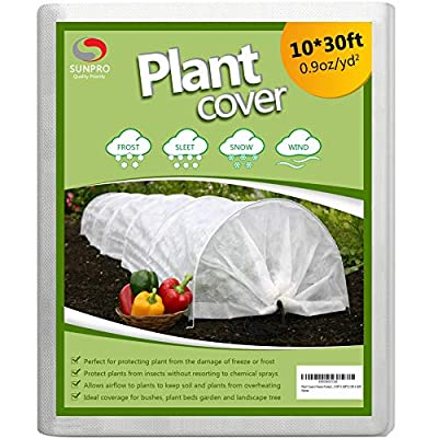 Amazon - Save 20%: SUNPRO Plant Covers, 0.9oz 10Ft x 30Ft Reusable Floating Row Cover, Freez…