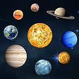 Extsud Neun Planeten Wandsticker Leuchtaufkleber