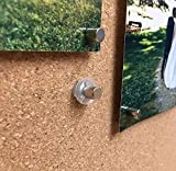Bullseye Office Magnet Makers - Innovative Magnetic Thumb Tacks - No Hole Tack to Hang Pictures, Posters, Maps, Etc. - Works on Walls, Bulletin Boards, Cork, More! (8 Pack)