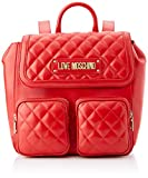 Love Moschino Borsa Quilted Nappa PU, Bolsa de mensajero para Mujer, Rojo (Rosso), 13x28x30 centimeters (W x H x L)