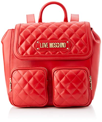 Love Moschino Borsa Quilted Nappa Pu Tracolla Donna, (Rosso), 13x28x30 cm (W x H x L)
