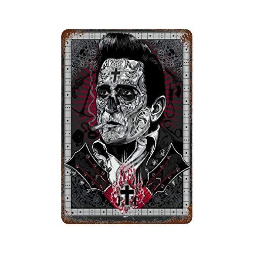 XREE Johnny Cash Print Fin WEB-Ol Ludwig Van Not Rusted Placa de...