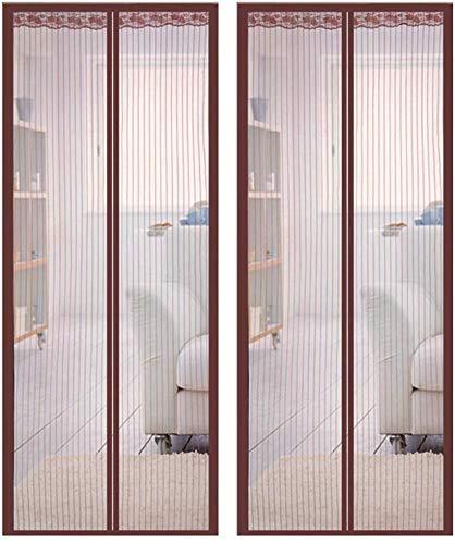 Dmygo Control de la Puerta del Acoplamiento del Verano Cortinas Anti Mosquitera Plagas Gasa hogar de la Cortina Accesorios Textil con Magic Tape Roll y...