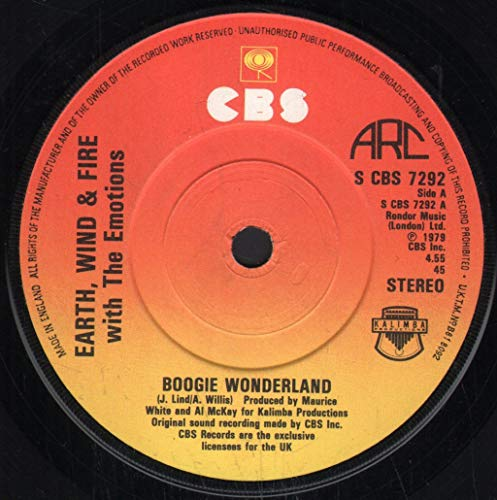 Earth, Wind & Fire With The Emotions - Boogie Wonderland - CBS - S CBS 7292