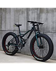 26 inch mountainbikes, MJH-01 volwassen vetband mountainbike,24 speed fiets, high-carbon stalen frame dubbele volledige vering dubbele schijfrem - oranje/cyaan