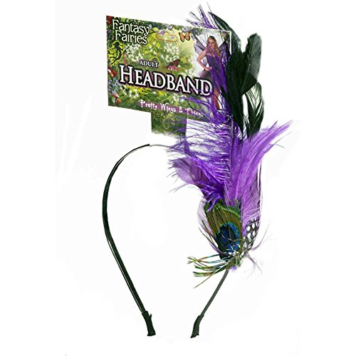Spring Fairy Peacock Feather Headband Costume Accessory